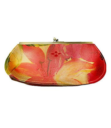 Patricia Nash Leather Floral Foggia Frame Wallet