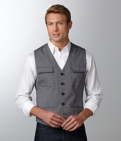 Kenneth Cole New York Striped Vest