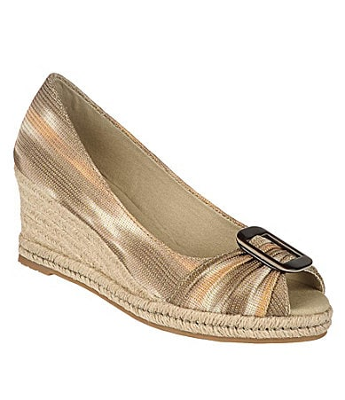 Naturalizer Bashful Peep-Toe Wedges