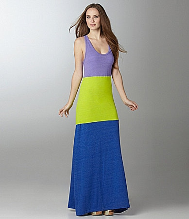 C & C California Neon Colorblock Dress