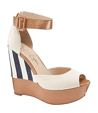 Jessica Simpson Cocoa Platform Wedge Sandals