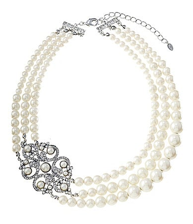 Cezanne Multi-Row Pearl Filigree Statement Necklace