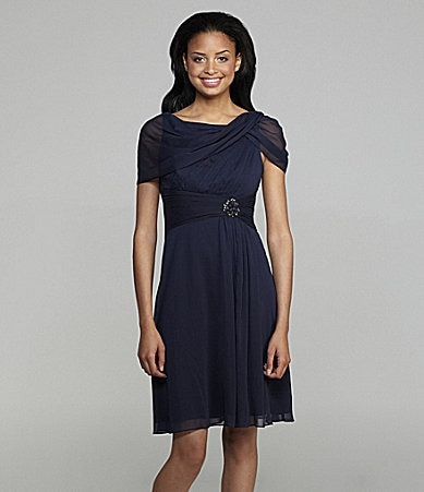 Adrianna Papell Boatneck Dress