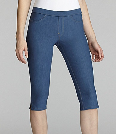 Hue Soft Stretch Jean Pedal Pusher Leggings
