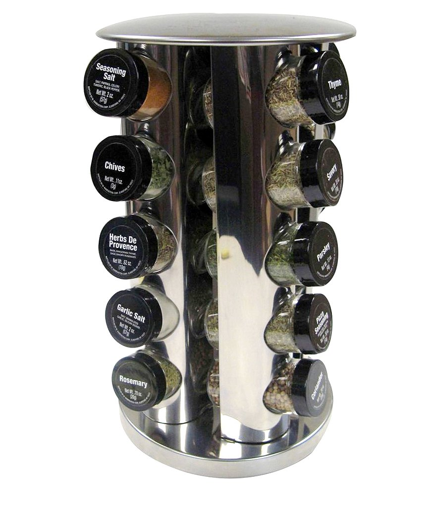 Kamenstein Stainless Steel 20 Jar Revolving Spice Rack