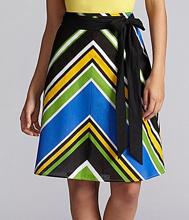 Alex Marie Julietta A-Line Chevron Skirt