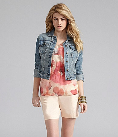 Cremieux Denim Jacket, Hilary Blouse & Brianna Shorts