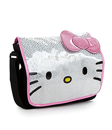 Hello Kitty Glitter Bow Messanger Bag