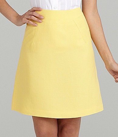 Alex Marie Petites Lilly Linen-Blend A-Line Skirt