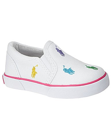 Polo Ralph Lauren Girls' Bal Harbor Repeat Slip-On Sneakers