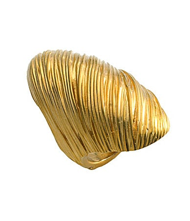 T Tahari Marrakesh Wrapped Goldtone Ring