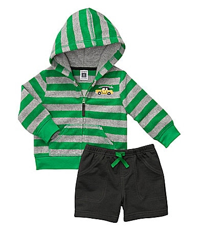 Carter�s Newborn Car Striped Cardigan & Shorts Set