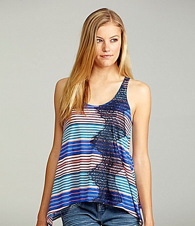 GB Striped Lace Tank