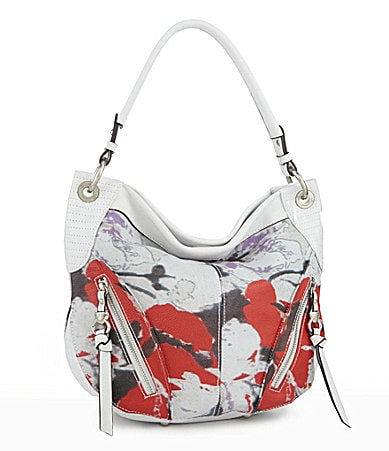 B. Makowsky Floral Holly Shoulder Bag