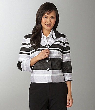 Investments II Crinkle Texture Stripe Jacket