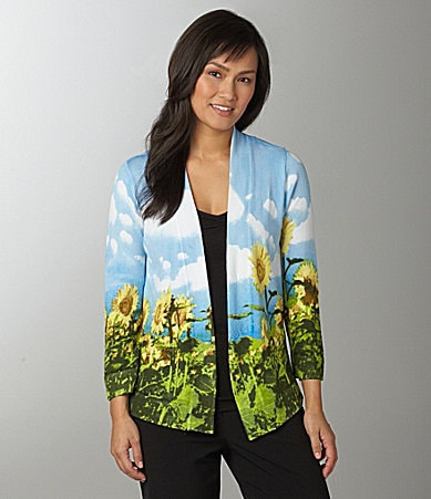 Investments Sunflower Printed Flyaway Cardigan