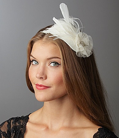 Giovannio Vintage Tulle & Feather Fascinator