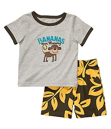 Carter�s Newborn Bananas Over Mommy Surf Shorts Set