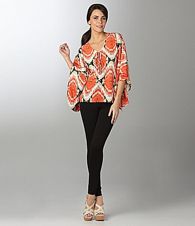 Vince Camuto Tribal Caftan Top & Basics Leggings