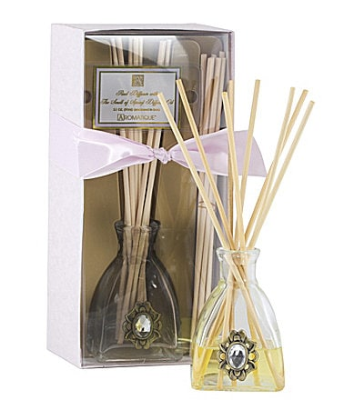 Aromatique  The Smell of Spring Reed Diffuser with Jewel Medallion