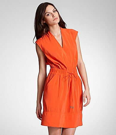 Kenneth Cole New York Bright Elastic-Waist Dress