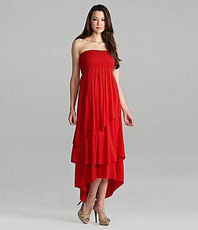 Patterson J. Kincaid Convertible Tiered Maxi Dress