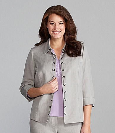 Alex Marie Woman Maryellen Linen-Blend Jacket