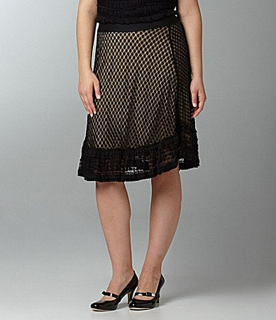M.S.S.P. Woman Dot Lace Skirt