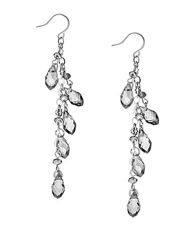 Cezanne Shaky Teardrop Linear Earrings