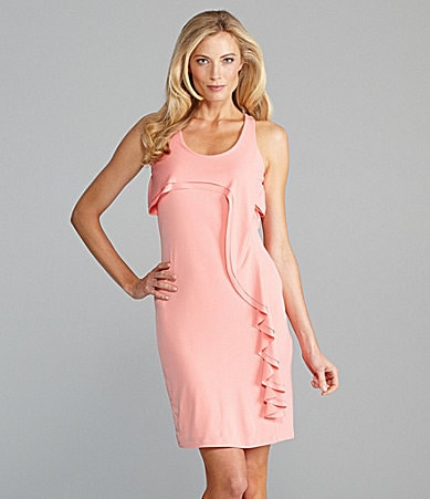 AK Anne Klein Ruffle Racerback Dress