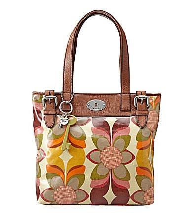 Fossil Orange Multi Key-Per Tote