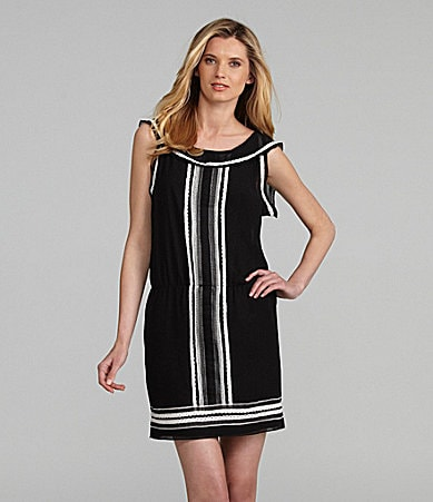 M.S.S.P. Lace Trim Drop Waist Dress