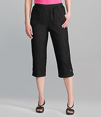 Allison Daley Stretch Denim Capri Pants