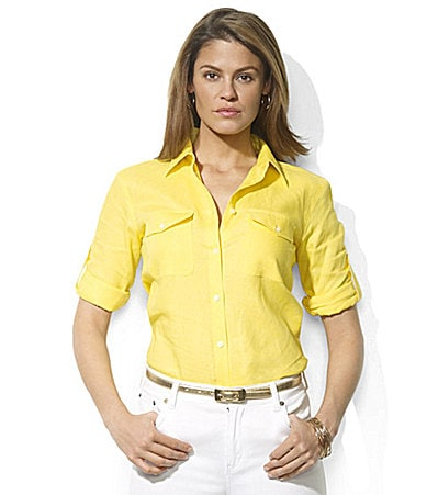 Lauren Ralph Lauren Clayton Roll-Sleeve Shirt