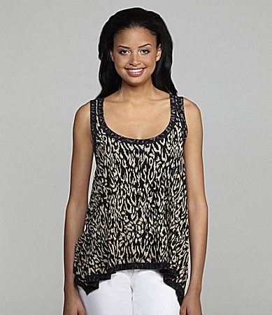 Kenneth Cole New York Safari-Print Tank