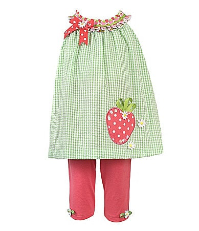 Rare Editions 2T-6X Strawberry Leggings Set