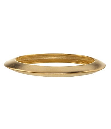 Kenneth Jay Lane Round Gold Bangle Bracelet