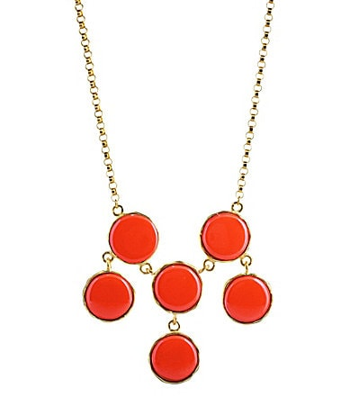 Kenneth Jay Lane Circle Drop Bib Necklace