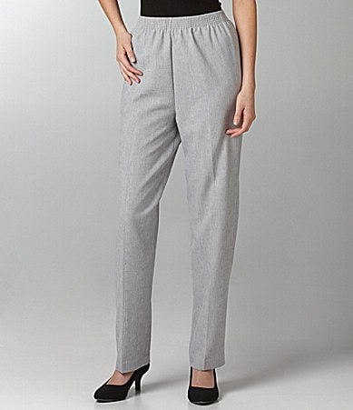 Allison Daley Regatta Linen-Look Pull-On Pants