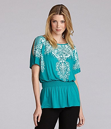 BluPrint Clothing Cold-Shoulder Peasant Top