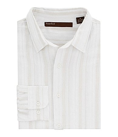 Perry Ellis Satin Striped Sportshirt