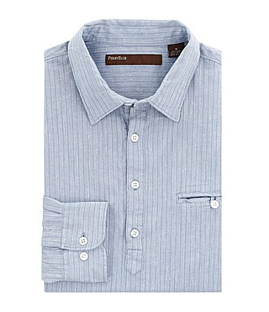 Perry Ellis Vertical-Striped Sportshirt