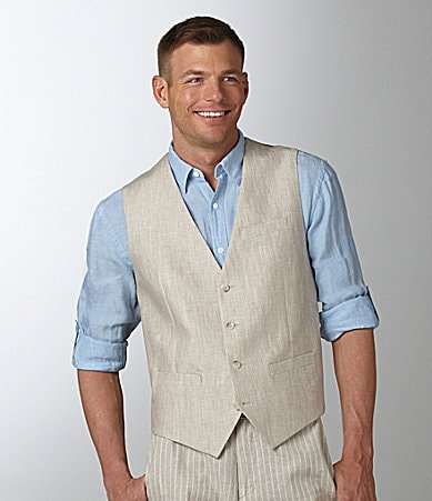 Perry Ellis Slim-Fit Linen Vest
