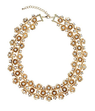 Anna & Ava Floral Metal Statement Necklace
