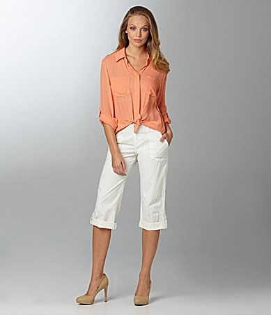 Sanctuary Clothing Soft Shirttail Blouse & Mystic Saturday Crop Pants