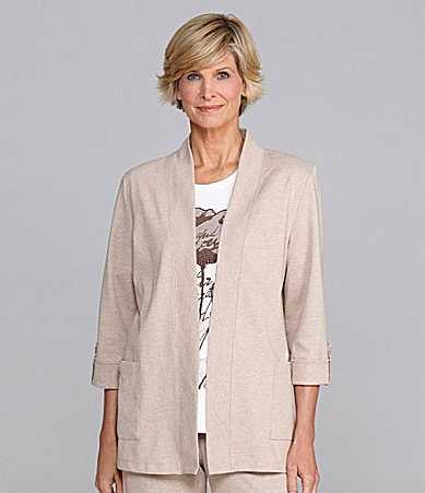 Allison Daley Petites Open-Front Cardigan