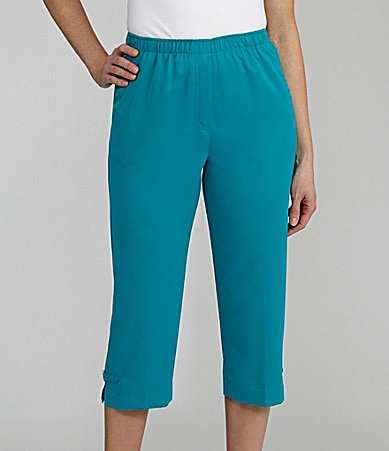 Allison Daley Petites Microfiber Twill Pull-On Crop Pants