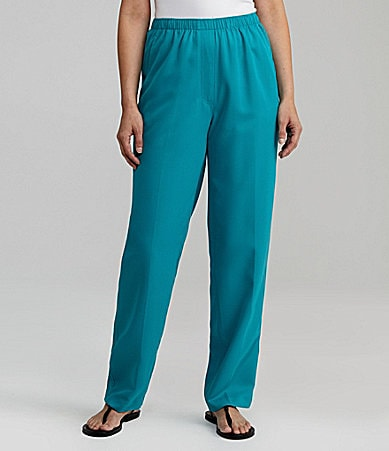 Allison Daley II Microfiber Twill Faux-Fly Pants