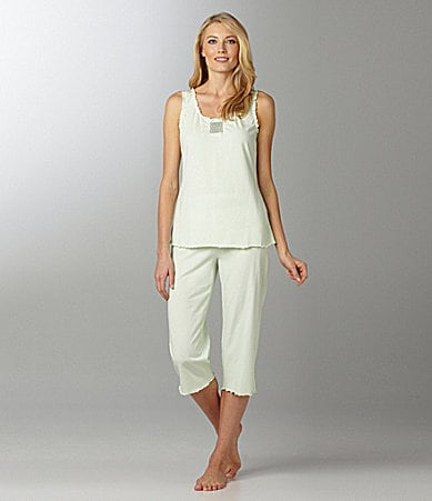 Sleep Sense Smocked Solid Tank & Capris