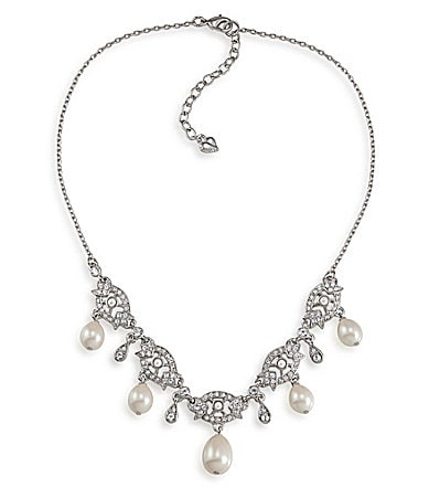 Carolee Elegant Bride Drop Frontal Necklace